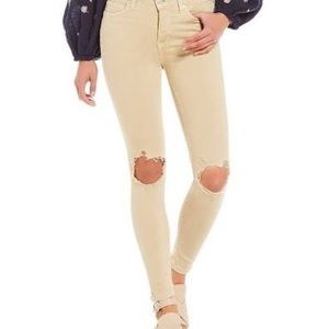 Free People Busted High Rise Jeans Size 26 Beige